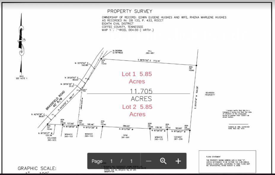 Brassfield Rd Lot 1 Hillsboro, TN 37342