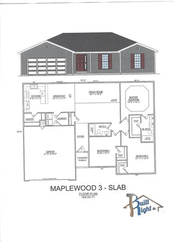 170 Bald Cypress Ct, Hollister, MO 65672 Ranch House Floor Plans On Slab Sq Ft on