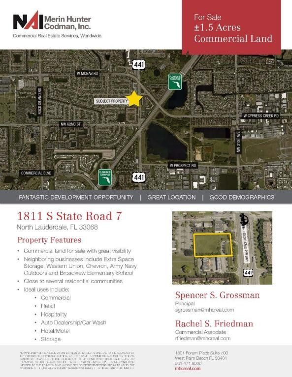 1811 S Sr 7 North Lauderdale Fl 33068 Land For And Real