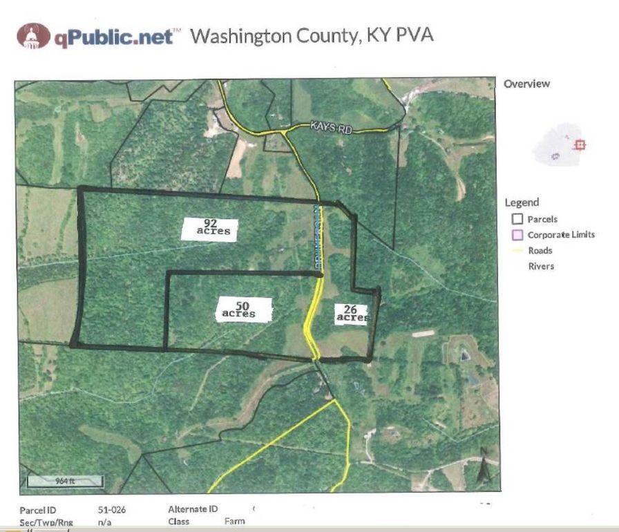 26 34 Acres Bruners Ln, Mackville, KY 40040