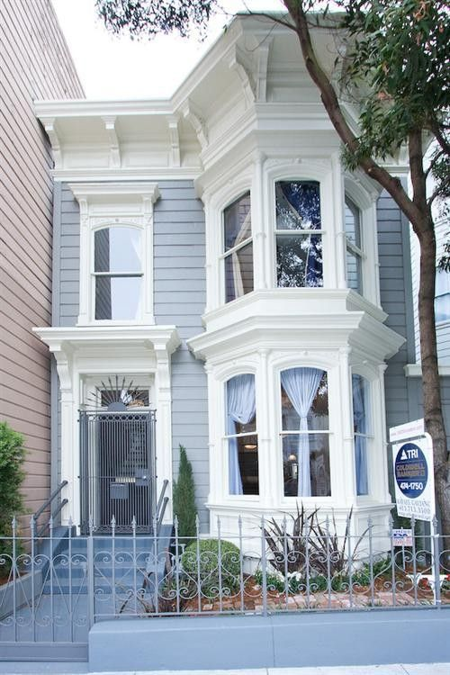 Blue and White Painted Victorian Home