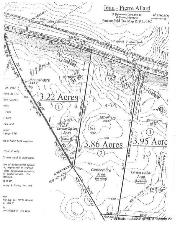 Parsonsfield Maine Map.Moulton Hill Rd Lot 08 2 Parsonsfield Me 04047 Land For Sale And