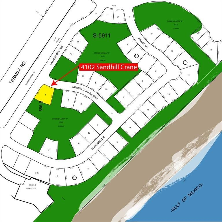 Galveston Map Of Texas.4102 Sandhill Crane Way Galveston Tx 77554