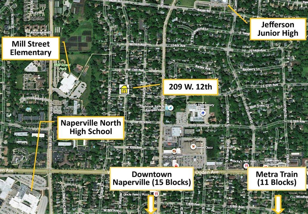Subway Map Naperville.209 W 12th Ave Naperville Il 60563