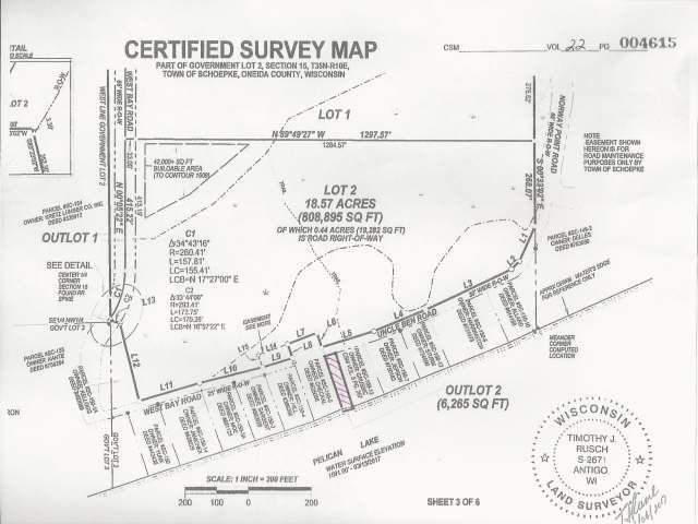 Unit 18 On West Bay Rd 57 Acre Wi 54463
