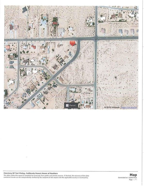 Twentynine Palms California Map.Larrea And Two Mile Road Ave Twentynine Palms Ca 92277 Land For
