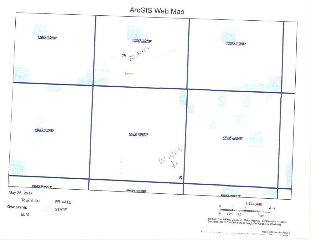 Beryl Utah Map.80 Acres T33s R16w Beryl Ut 84714 Realtor Com