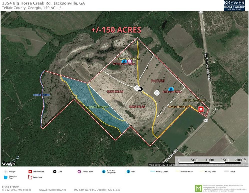 Map Of Jacksonville Georgia.1354 Big Horse Creek Rd Jacksonville Ga 31544 Realtor Com