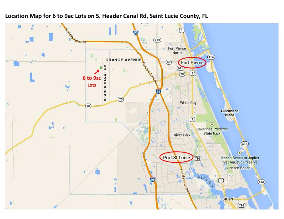Map Of Fort Pierce Florida.1101 S Header Canal Rd Fort Pierce Fl 34945 Land For Sale And