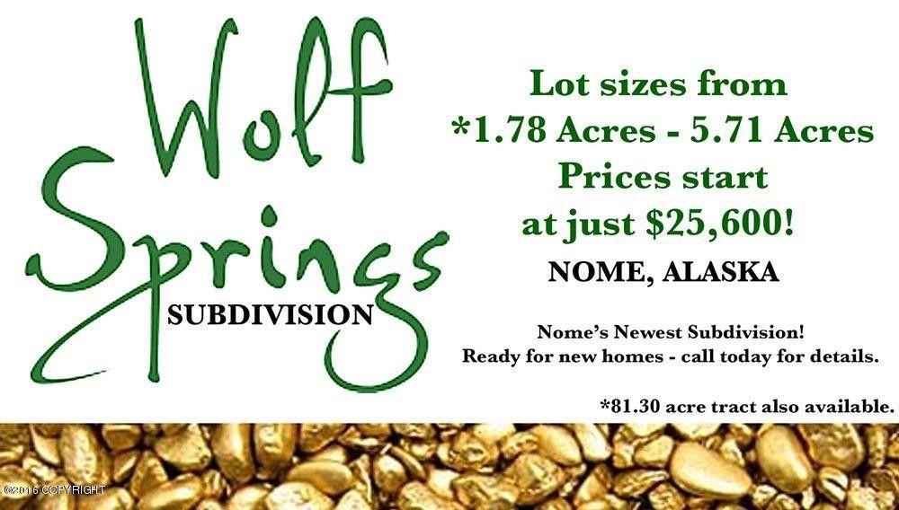 L6 B1 Wolf Spgs, Nome, AK 99762
