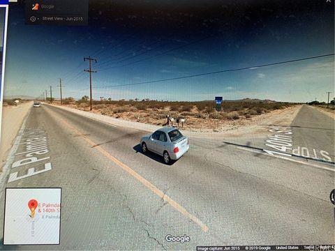 Photo of Corner E Palmdale Blvd /140th St, Sun Village, CA 93543