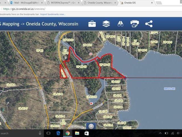 Tomahawk Wisconsin Map.Off Boden Rd Lake Tomahawk Wi 54539 Realtor Com