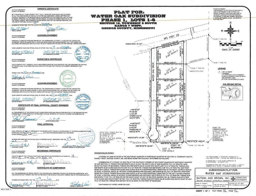 Water Oak Dr Lot 4, Lucedale, MS 39452