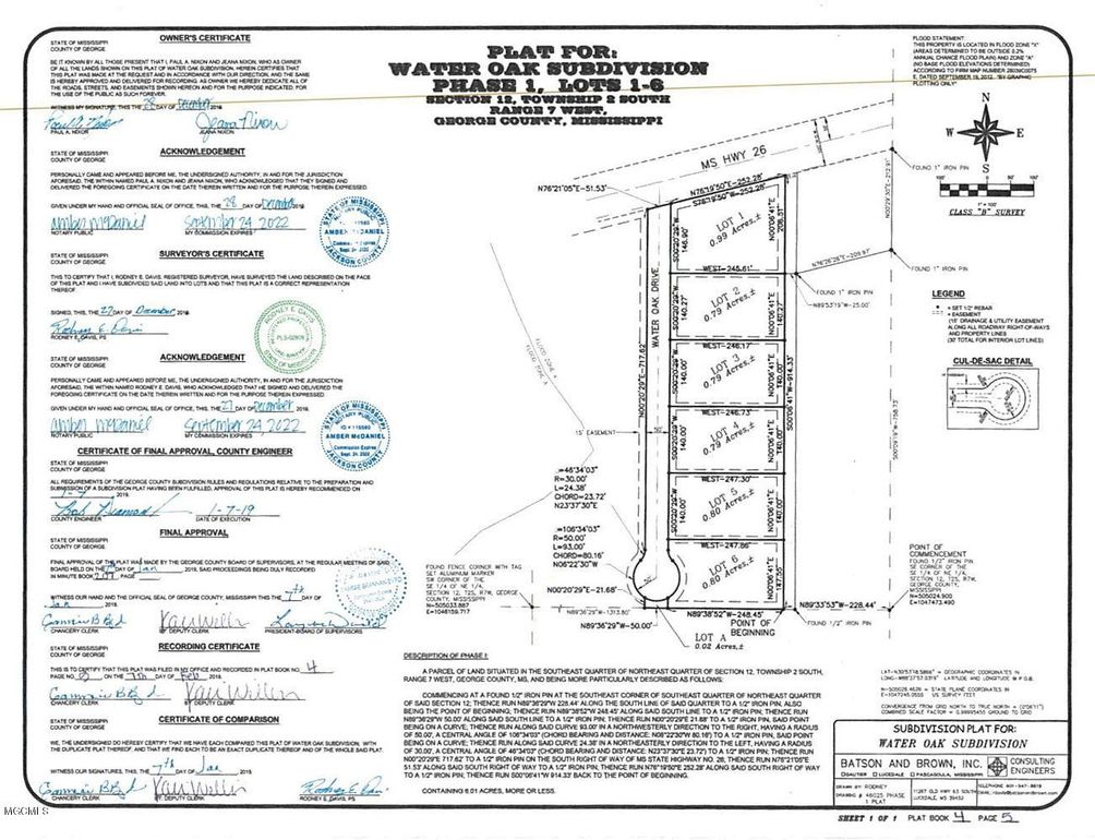 Water Oak Dr Lot 6, Lucedale, MS 39452