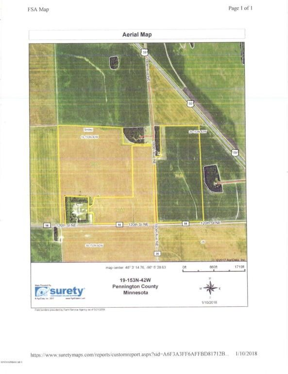 Tbd Jct Of Th Ave Se And Th St Ne Thief River Falls MN - Surety maps