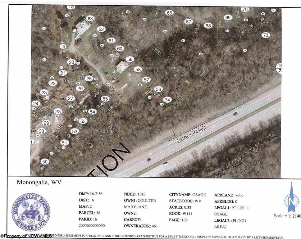 Pt Lot 11 Summit St Lot 11 Osage, WV 26543