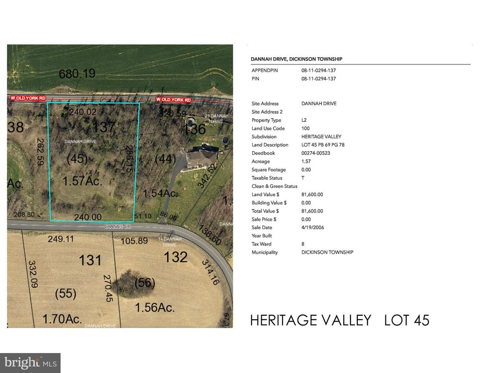 Heritage Valley-dannah Dr Lot 45, Carlisle, PA 17015 - Land For Sale on