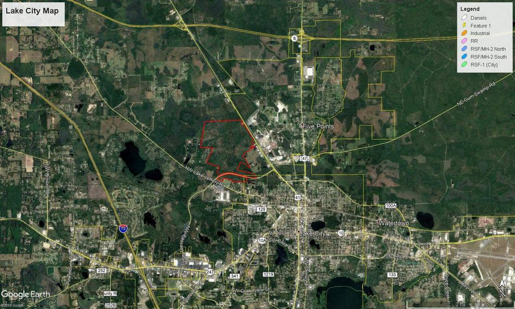 Map Of Lake City Florida.Nw Bascom Norris Us41 Us41 Lake City Fl 32055 Land For Sale