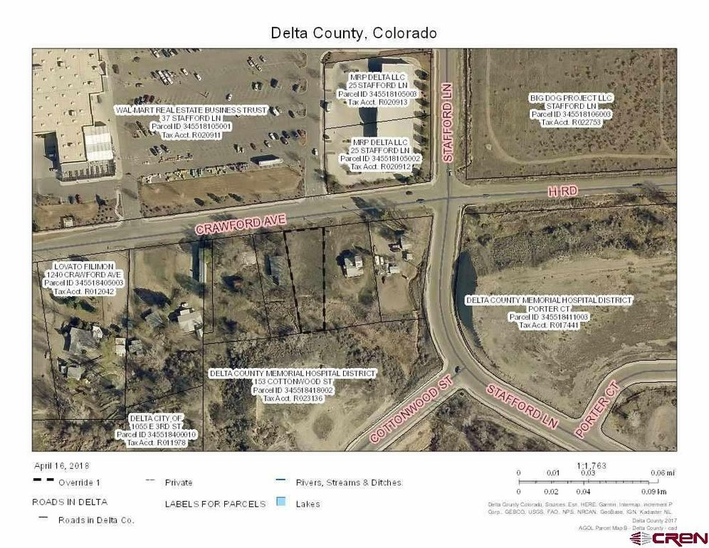 Delta County Colorado Map.Crawford Ave Delta Co 81416 Land For Sale And Real Estate