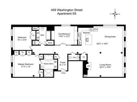 459 Washington St Apt 5 S, New York, NY 10013