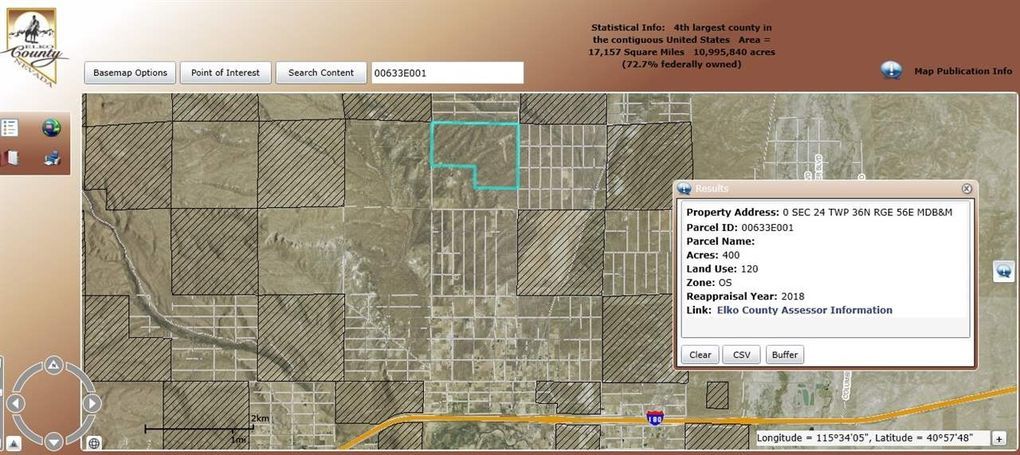 Sec 24 Twp 36 N Rge # 56 E, Elko, NV 89801 - Land For Sale and Real Elko County Plot Maps on