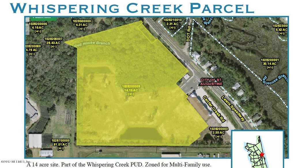 3377 Lewis Speedway Saint Augustine FL Land For Sale and