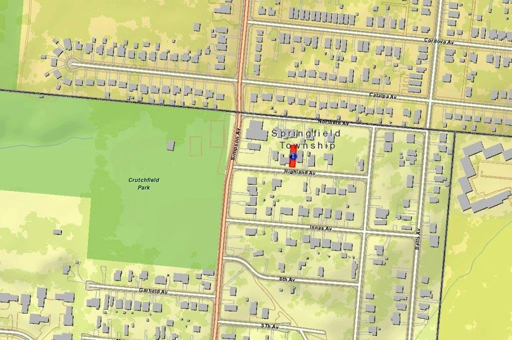Springfield Township Ohio Map.2042 Highland Ave Springfield Township Oh 45224 Land For Sale