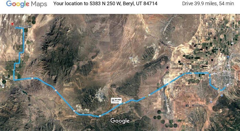 Beryl Utah Map.5383 N 250 Beryl Ut 84714 Land For Sale And Real Estate