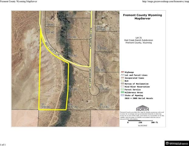 Fremont County Wyoming Map Server.25 Red Creek Ln Dubois Wy 82513 Realtor Com