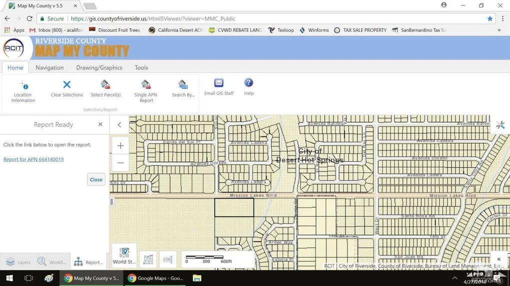 Desert Hot Springs California Map.Mission Lakes Blvd Desert Hot Springs Ca 92240 Land For Sale And