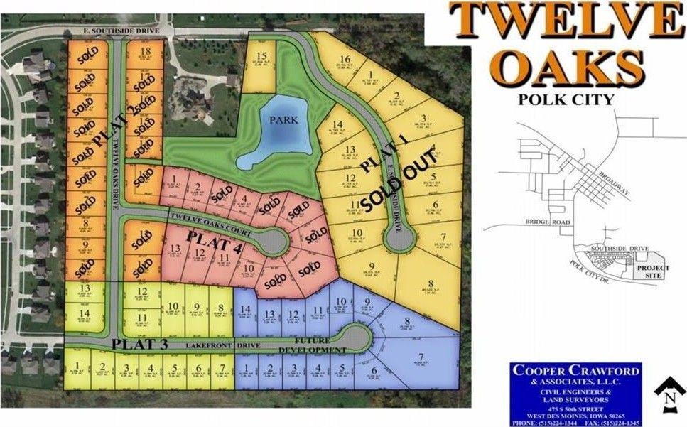 Polk City Iowa Map.808 Twelve Oaks Ct Polk City Ia 50226 Recently Sold Land Sold