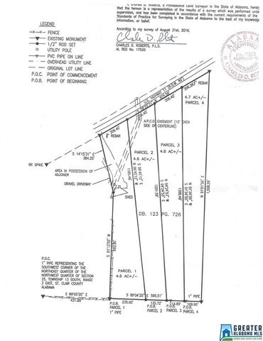 Photo of R O W 80 Highway 11 Unit 4 4 5 Ac Each 19 Total Lot Avg, Ashville, AL 35987