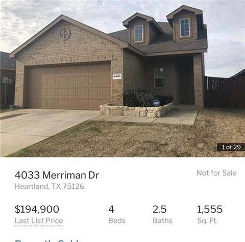 Photo of 4033 Merriman Dr, Heartland, TX 75126
