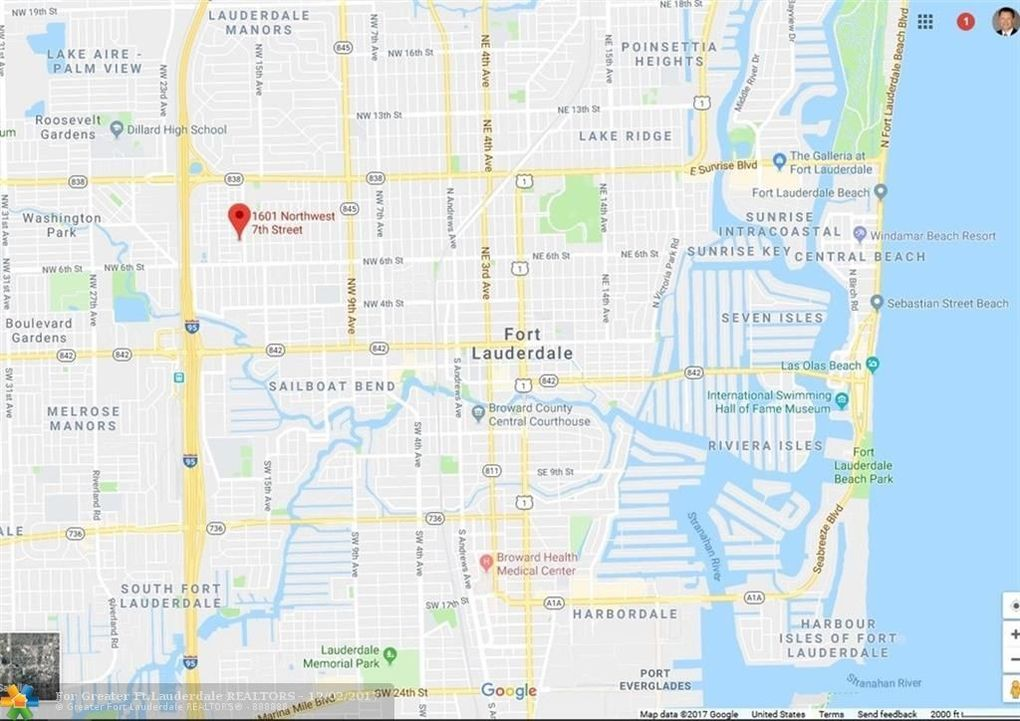 Fort Lauderdale Map Florida.1601 Nw 7th St Fort Lauderdale Fl 33311