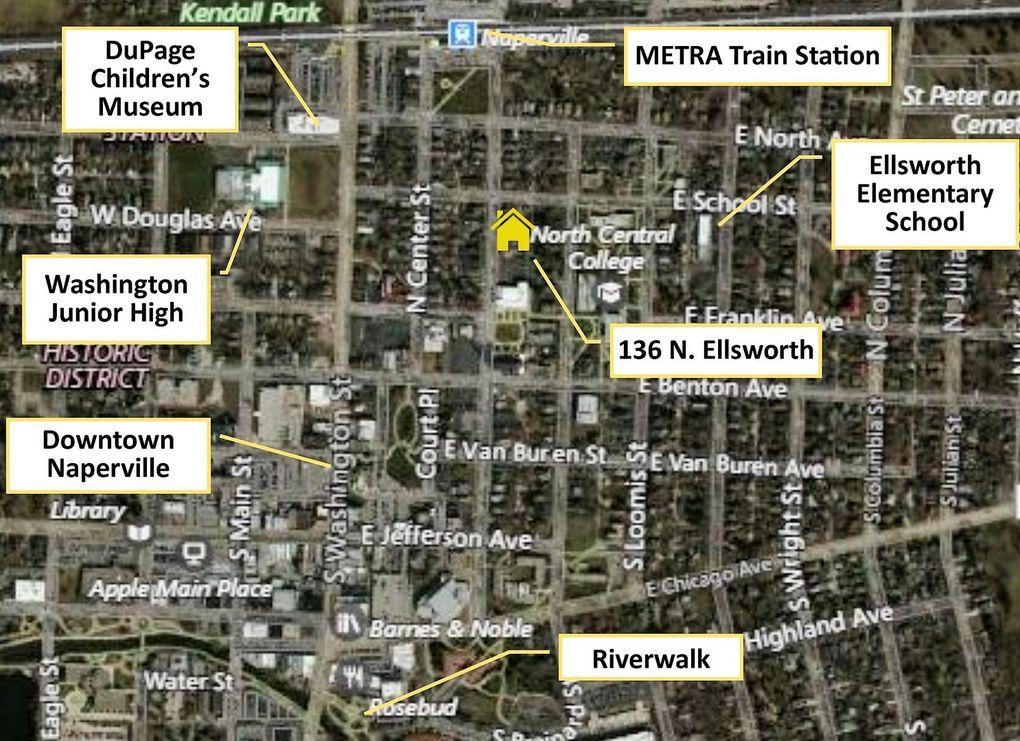 Subway Map Naperville.136 N Ellsworth St Naperville Il 60540