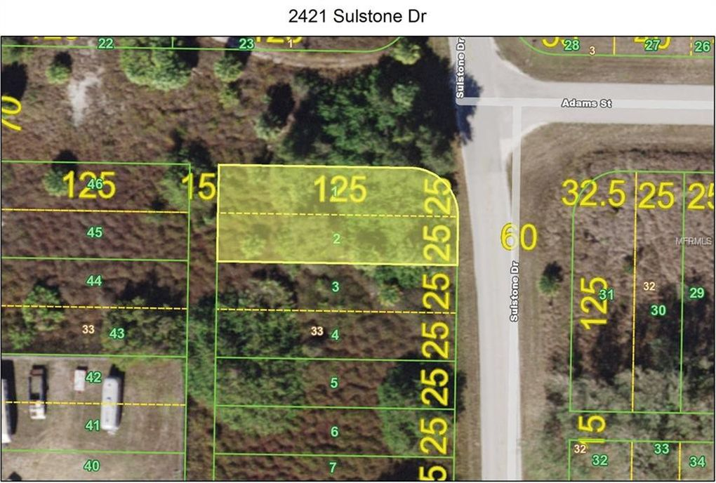 2421 Sulstone Dr Punta Gorda FL Land For Sale and Real