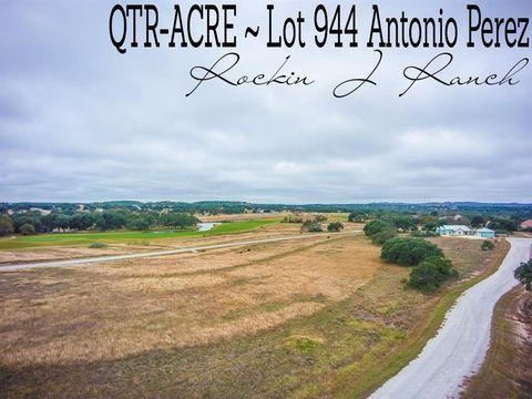 Antonio Perez Lot 944, Blanco, TX 78606