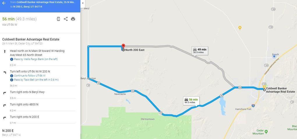 Beryl Utah Map.20 Ac Off Beryl Hwy Beryl Ut 84714 Land For Sale And Real Estate