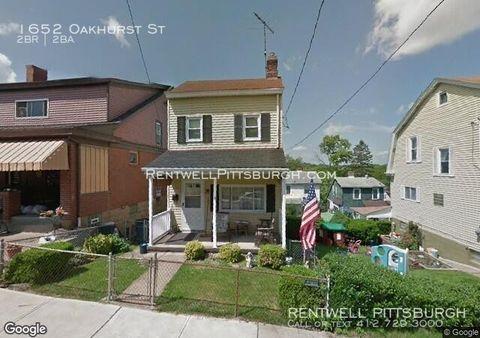 Photo of 1652 Oakhurst St, Pittsburgh, PA 15210