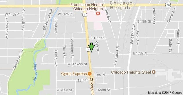 1653 Chicago Rd Heights Il 60411 Land For Sale And: Map Of Chicago Heights Illinois At Usa Maps