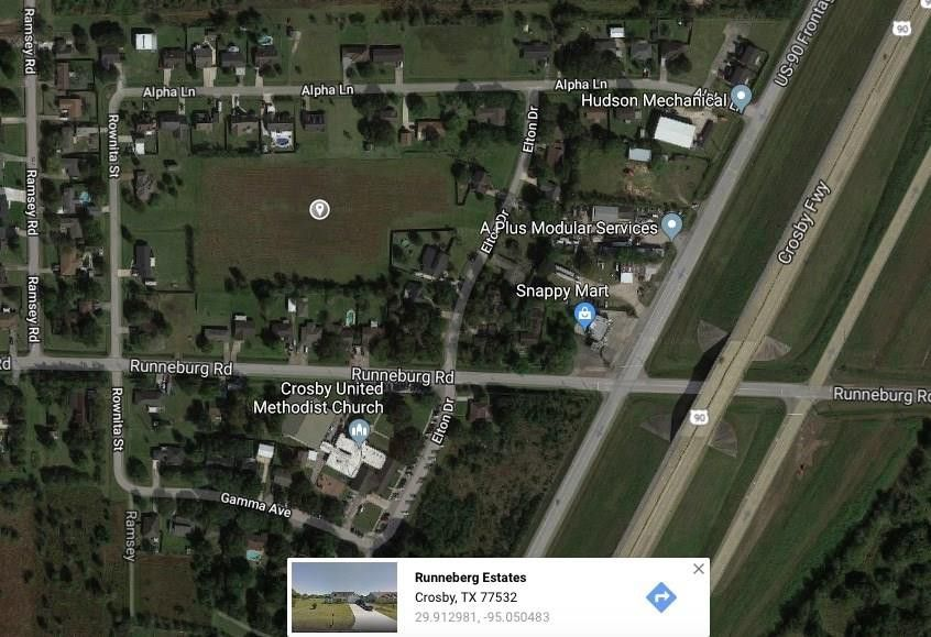 Map Of Crosby Tx 77532.Beta Ave Lot 4 11 And 14 19 14 19 Crosby Tx 77532 Land For
