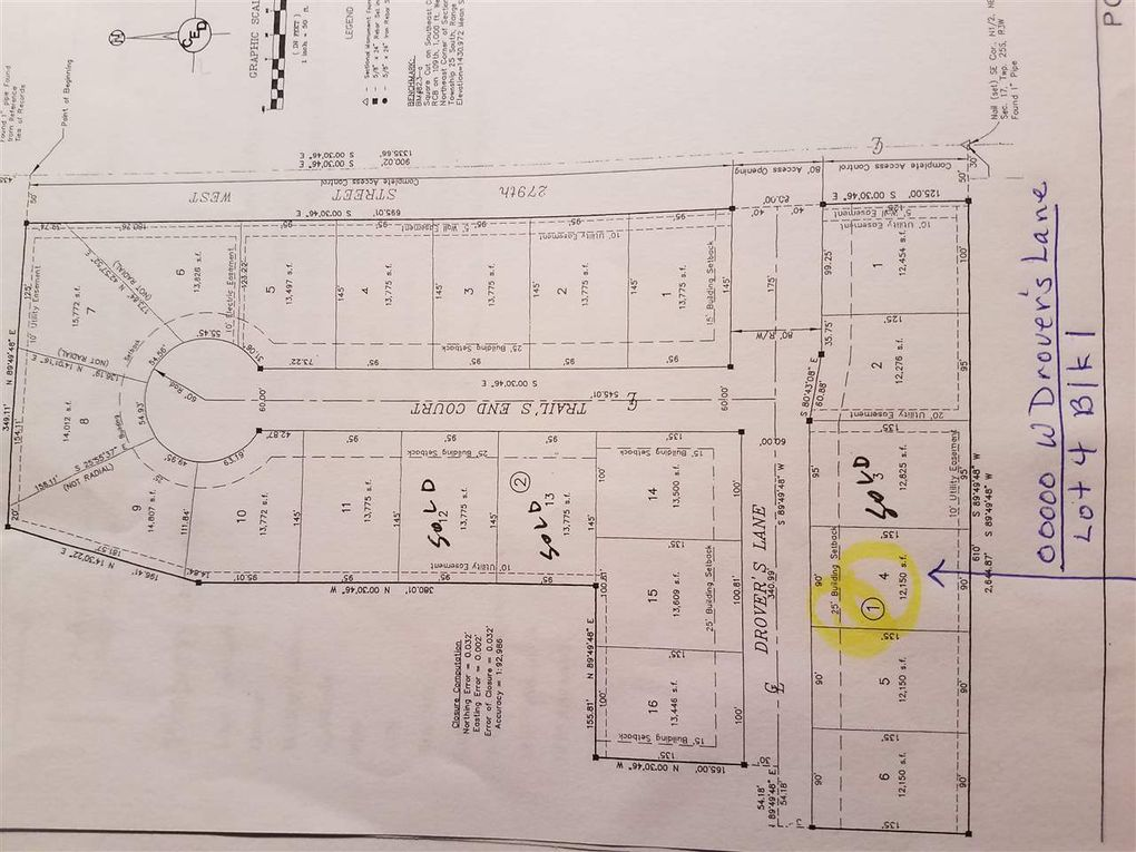 Blk 1 N Drovers Ln Unit Drovers 1st Add Xing Lot 4 Mount Hope, KS 67108