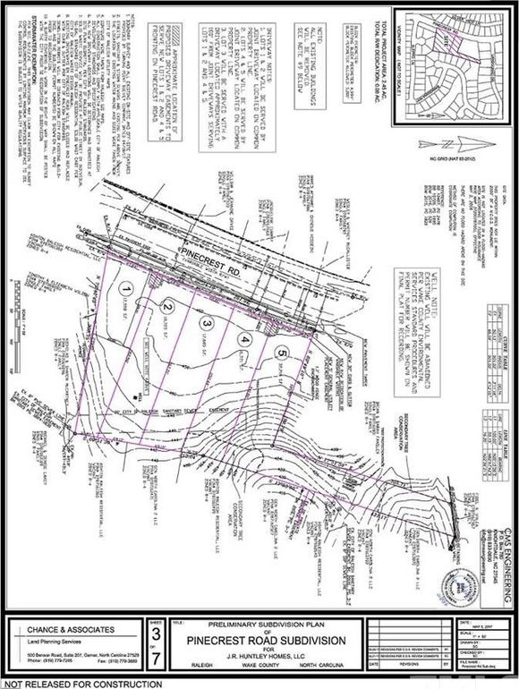 7520 Pinecrest Rd Lot Subdivided, Raleigh, NC 27613