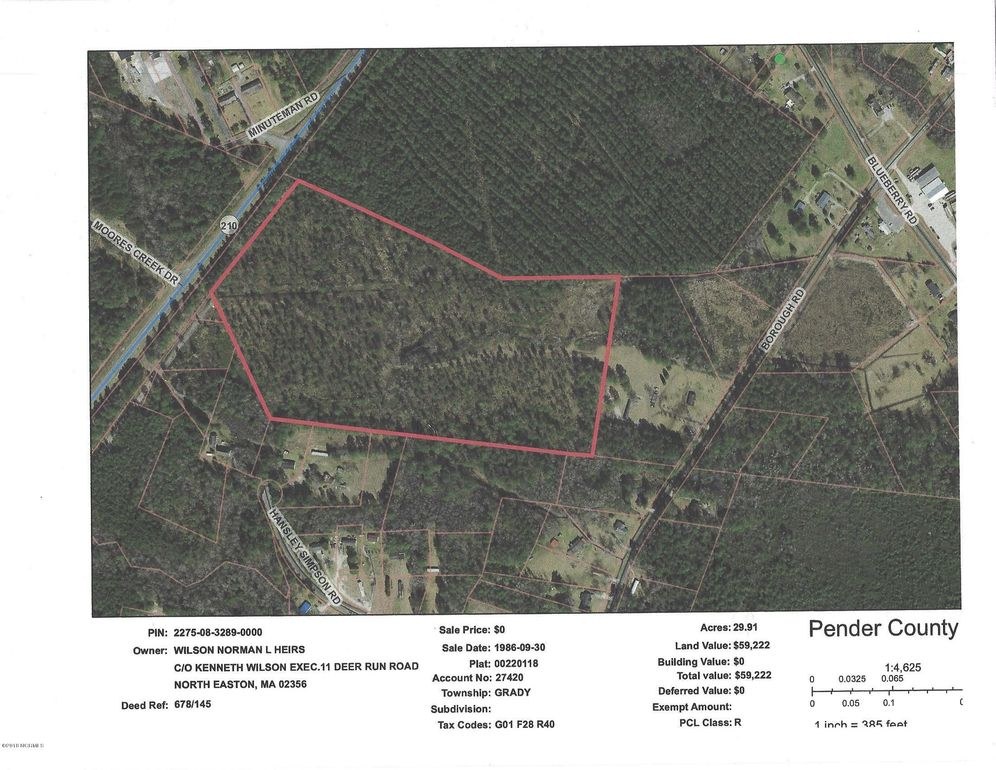 Borough Rd, Currie, NC 28435   Land For Sale and Real Estate