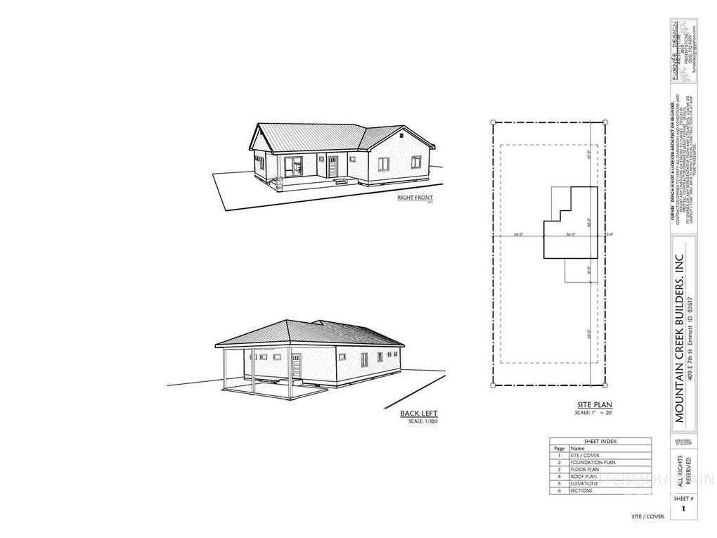 409 E 7th St, Emmett, ID 83617 Raised Ranch House Plan on