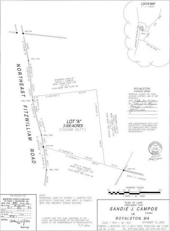 Map Fitzwilliam Rd Lot 3 Ne Royalston Ma 01368