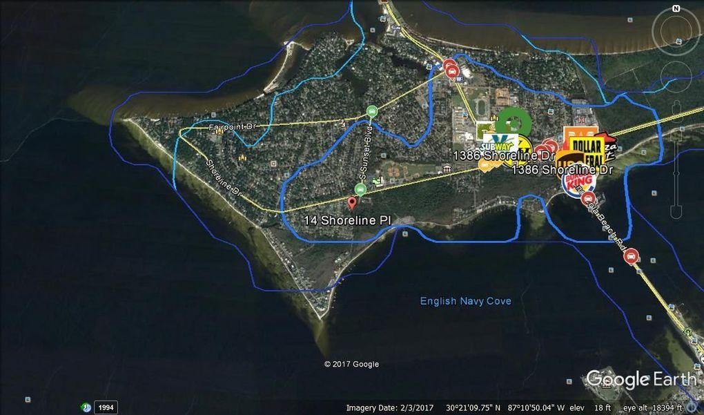 Map Gulf Breeze Florida.14 Shoreline Pl Gulf Breeze Fl 32561 Realtor Com