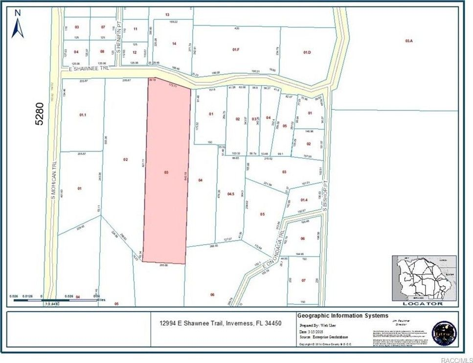 Inverness Florida Map.12994 E Shawnee Trl Inverness Fl 34450 Recently Sold Land Sold