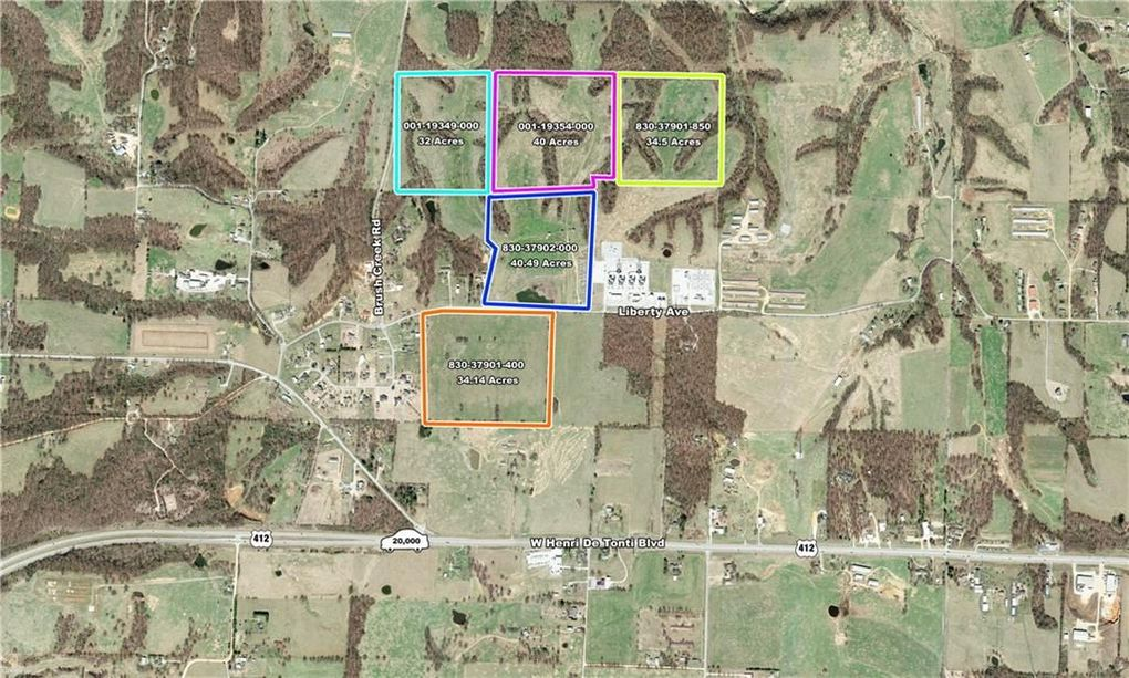 Tontitown Arkansas Map.Brush Creek Rd Tontitown Ar 72764 Realtor Com