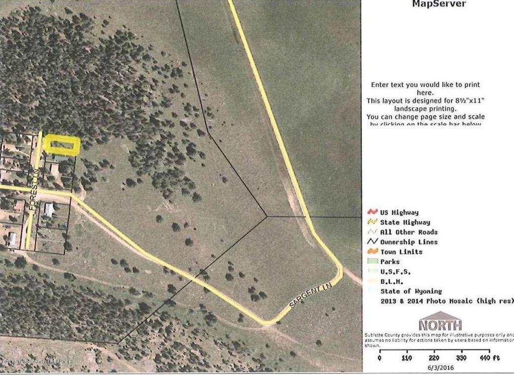 Bondurant Wyoming Map.Sargent Lot 1 Bondurant Wy 82922 Realtor Com